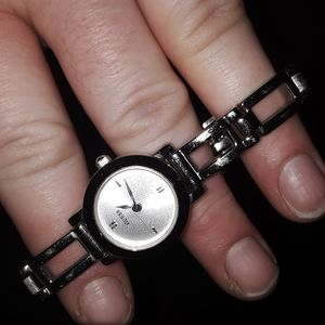 Ladies silver GUESS watch